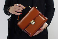 Genuine Leather handbag shoulder bag black red for women leather crossbody bag