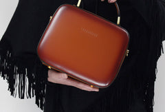Genuine Leather cube handbag shoulder bag for women leather crossbody bag