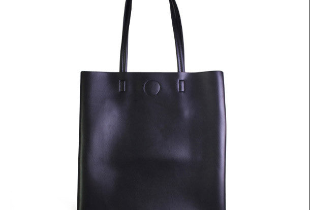 Genuine Leather handbag small black shoulder bag brown tote for women leather shopper bag
