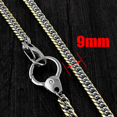 SOLID STAINLESS STEEL BIKER Silver Gold WALLET CHAIN LONG PANTS CHAIN jeans chain jean chain FOR MEN