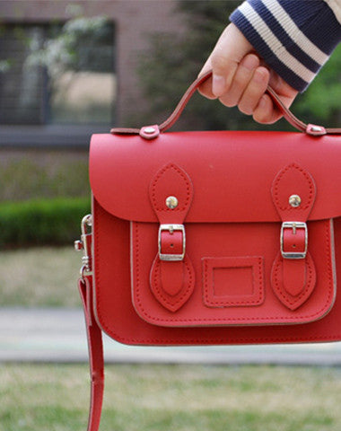 Mini cute leather Satchel messenger School crossbody Shoulder Bag for girl women