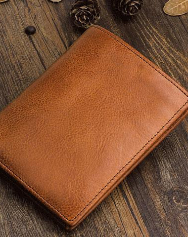 cdd8ade29f0a Cool Leather Mens Slim Leather Short Wallet Men Small Bifold Wallets for Men