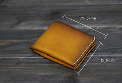 Handmade Men billfold leather wallet men vintage brown coffee wine wallet for him