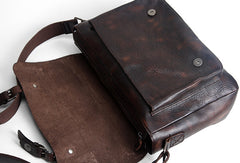 Handmade leather men satchel bag messenger large vintage shoulder laptop bag vintage bag