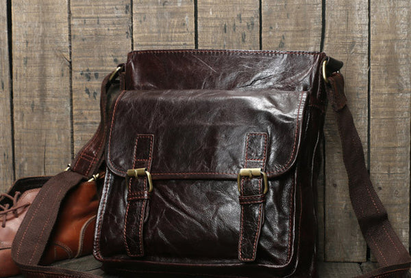 Genuine Leather messenger bag clutch leather men laptop vintage wallet for men