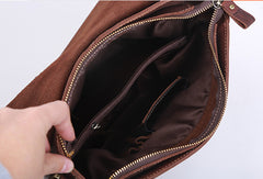 Cool leather men Small messenger bags shoulder bag