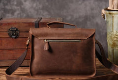 Handmade leather men Vintage messenger Bags Cool Shoulder Bag laptop Bags