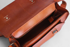 Handmade leather men Satchel bag messenger large vintage shoulder bag vintage bag