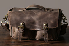 Handmade Vintage Leather Mens Camera Bag Messenger Bag Shoulder Bag