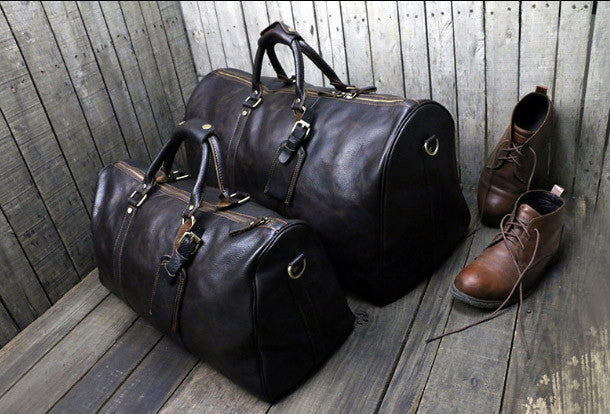 Onle Sale   Cool leather mens Weekender Bag Duffle Bag Travel bag Ov e637a5b611790