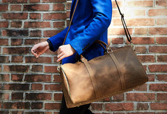 Vintage Leather men Travel Bag Duffle Bag Weekender Bag Overnight Bag shoulder bag