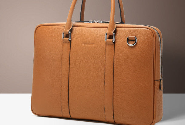 Leather Mens Briefcase Handbag Shoulder Bag laptop Bag Business Bag