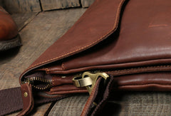 Genuine Leather messenger bag clutch leather men phone pad zip clutch vintage wallet for men