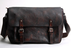 Handmade Cool leather men messenger bag shoulder laptop bag for men