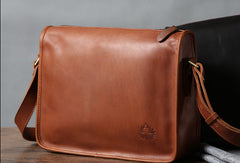 Cool leather mens messenger bag shoulder school laptop bag for men