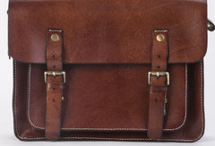 Handmade leather mens Messenger Bags School shoulder bags for Men