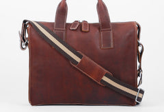 Cool leather mens Briefcase laptop Briefcase Work Briefcases shoulder bag for Men