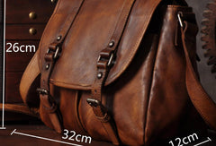 [ On Sale ] Handmade leather mens messenger Bag vintage shoulder bag laptop bag