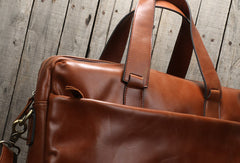 Cool leather mens Briefcase laptop Briefcase Business Bag shoulder bag for men