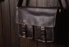 Cool leather mens messenger Bag Vintage shoulder bags vintage laptop bag