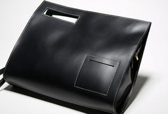 Genuine leather men clutch bag messenger large vintage shoulder bag vintage bag