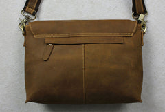 Handmade leather Briefcases men messenger Coffee shoulder bag vintage bag for him
