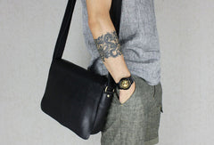 Handmade leather men Briefcase messenger Brown Black shoulder bag vintage bag for him