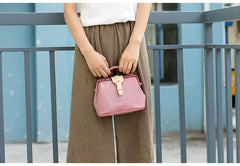 Handmade Womens Gray Leather Small doctor Purse Gray shoulder doctor bags for women