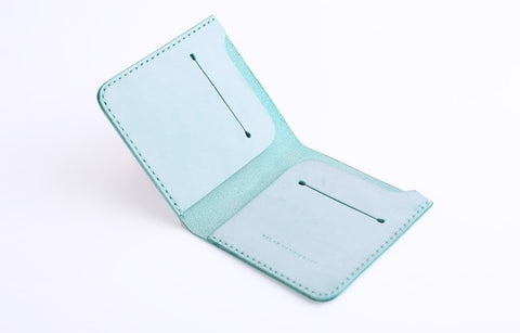 Handmade Cute Slim Leather Womens Bifold Small Wallets billfold Wallet for Women