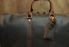 Leather Mens Weekender Bag Travel Bag Duffle Bag Vintage Overnight Bag Bag