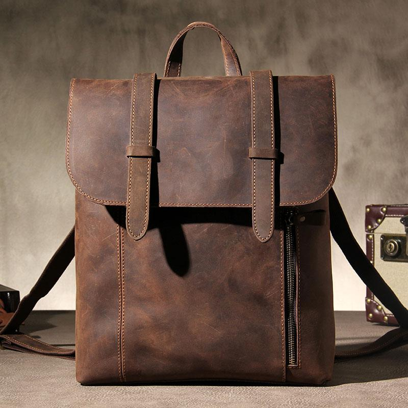 3fe9a384f288 Vintage Leather Mens Travel Backpack Bag Work Backpack for Men. SKU   YS03891011. Ask a Question or Check out FAQs of the item