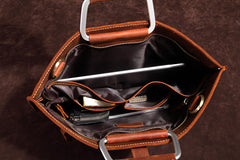 Handmade Leather Men Vintage Briefcase Handbag Laptop Bag For Men