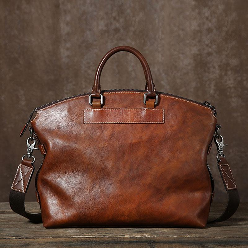 9ff02554b156 Cool Leather Mens Briefcase Work Bags Business Bag Laptop Bag for men