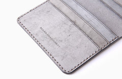 Handmade Leather Womens Slim License Wallet Front Pocket Wallet Slim Card Wallet for Women