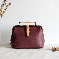 Handmade Leather doctor bags for women leather shoulder doctor bag crossbody bag