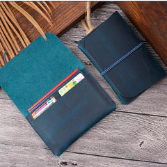 Vintage Brown Leather Men's Passport Wallet Black Travel Wallet Card Wallet For Men