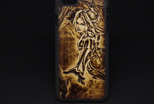 Handmade Irelia LOL_League-of-legends carved leather plastic phone case iphone custom phone case