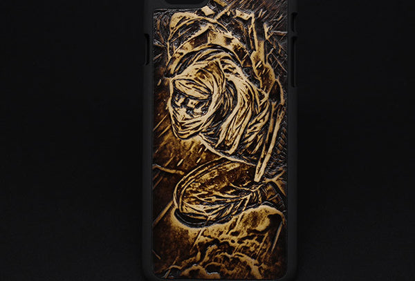 Handmade Zed LOL_League-of-legends carved leather plastic phone case iphone custom phone case