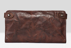 Vintage leather long wallet for men cool mens long wallet with a lot of cards