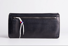 Leather Long clutch wallet leather black men wallet long wallet