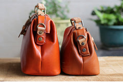 Handmade Leather doctor bag for women leather shoulder doctor bag crossbody bag