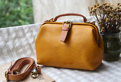 Handmade Leather doctor bag for women leather shoulder bag crossbody bag