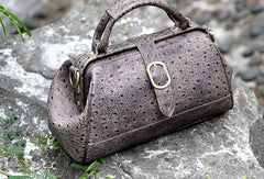 Handmade vintage shoulder bag small doctor bag handbag for women