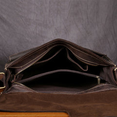 Handmade leather men messenger large vintage shoulder bag for men