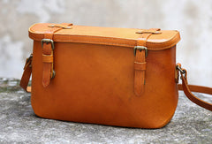 Handmade vintage satchel leather normal doctor bag shoulder bag handbag for women