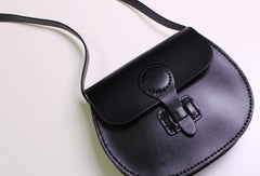 Handmade Leather satchel bag shoulder bag black coffee yellow for women leather crossbody bag