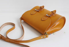 Handmade Leather school shoulder bags small leather crossbody bags for women