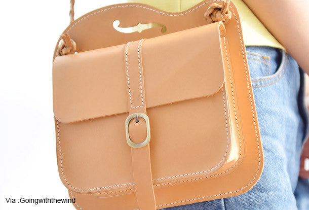 Handmade Leather purse shoulder bag women leather crossbody bag