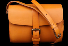 Handmade Leather shoulder bags small leather school crossbody bag for women