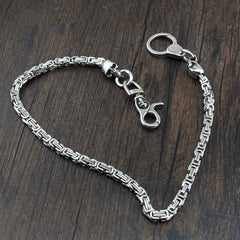 Badass Silver Long Skull Biker Wallet CHain jeans chain jean chain Pants Chain Wallet CHain For Men